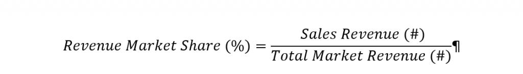 Formula for Revenue Market Share