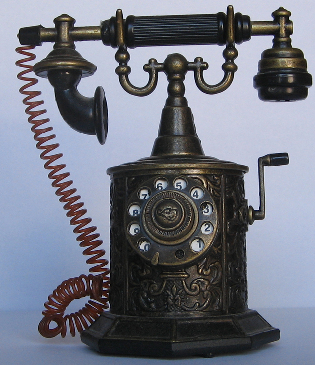 And old telephone. A clear network good